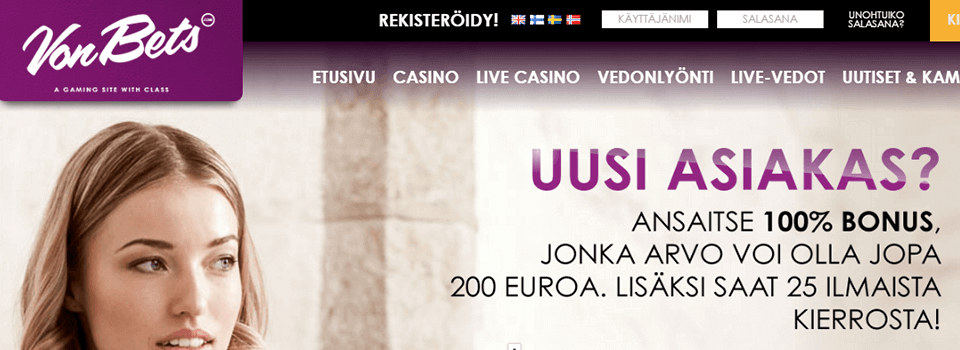 VonBets casino bonus