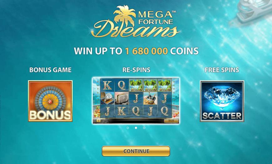 Jättipotti Mega Fortune Dreams