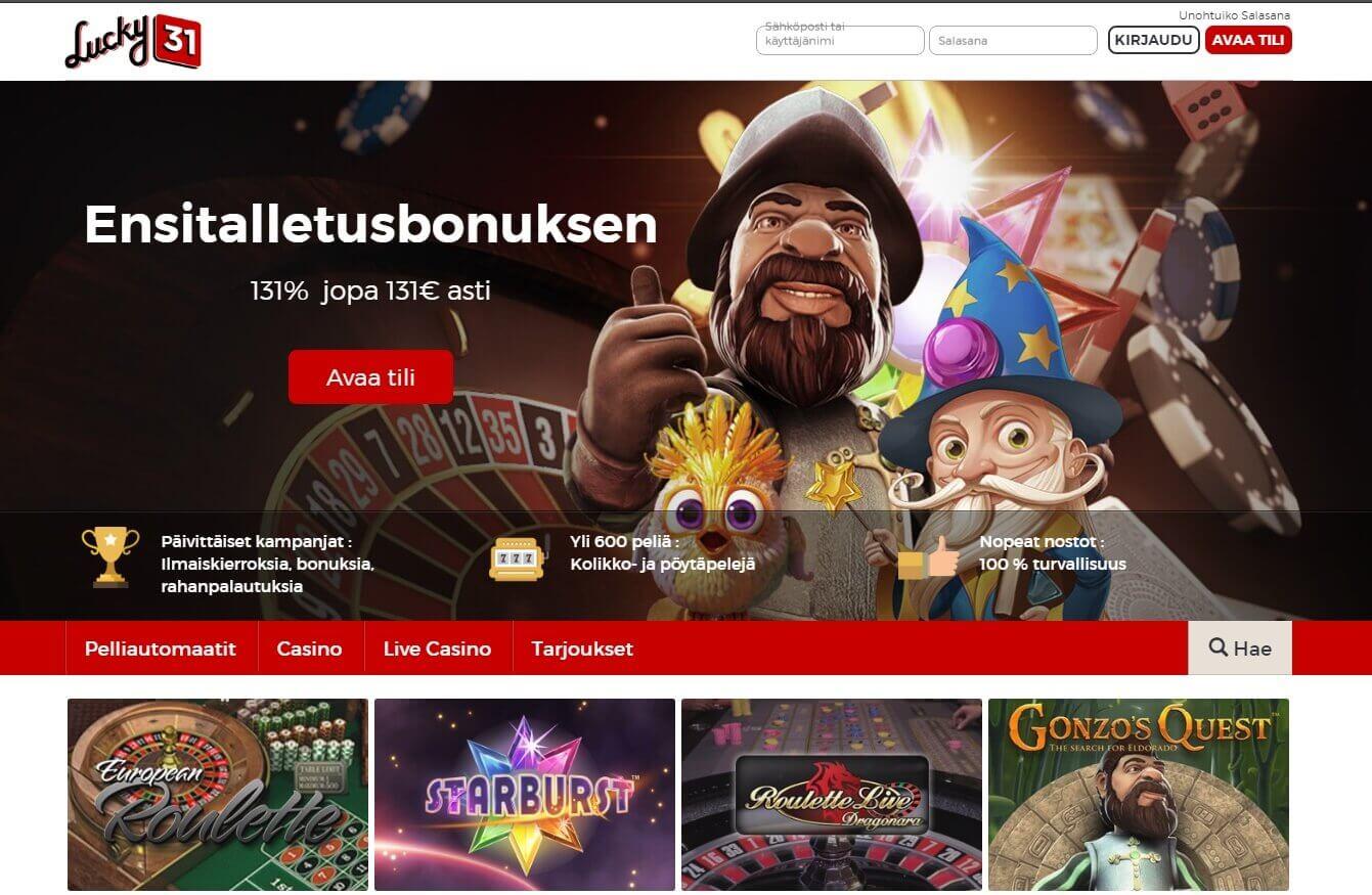 Lucky31 Uudet kasinot