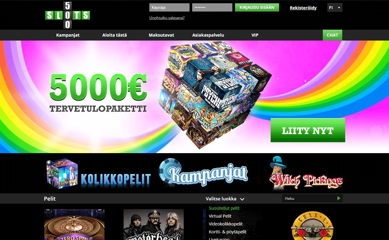 Kampanjat Slots500