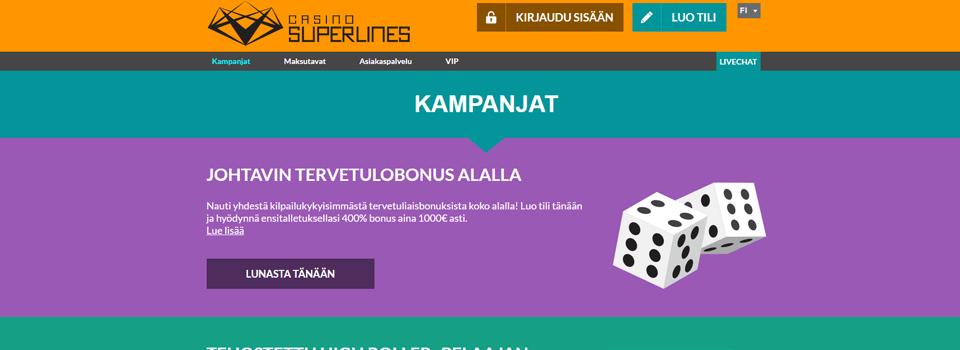 Casino Superlines ilmaiskierrokset