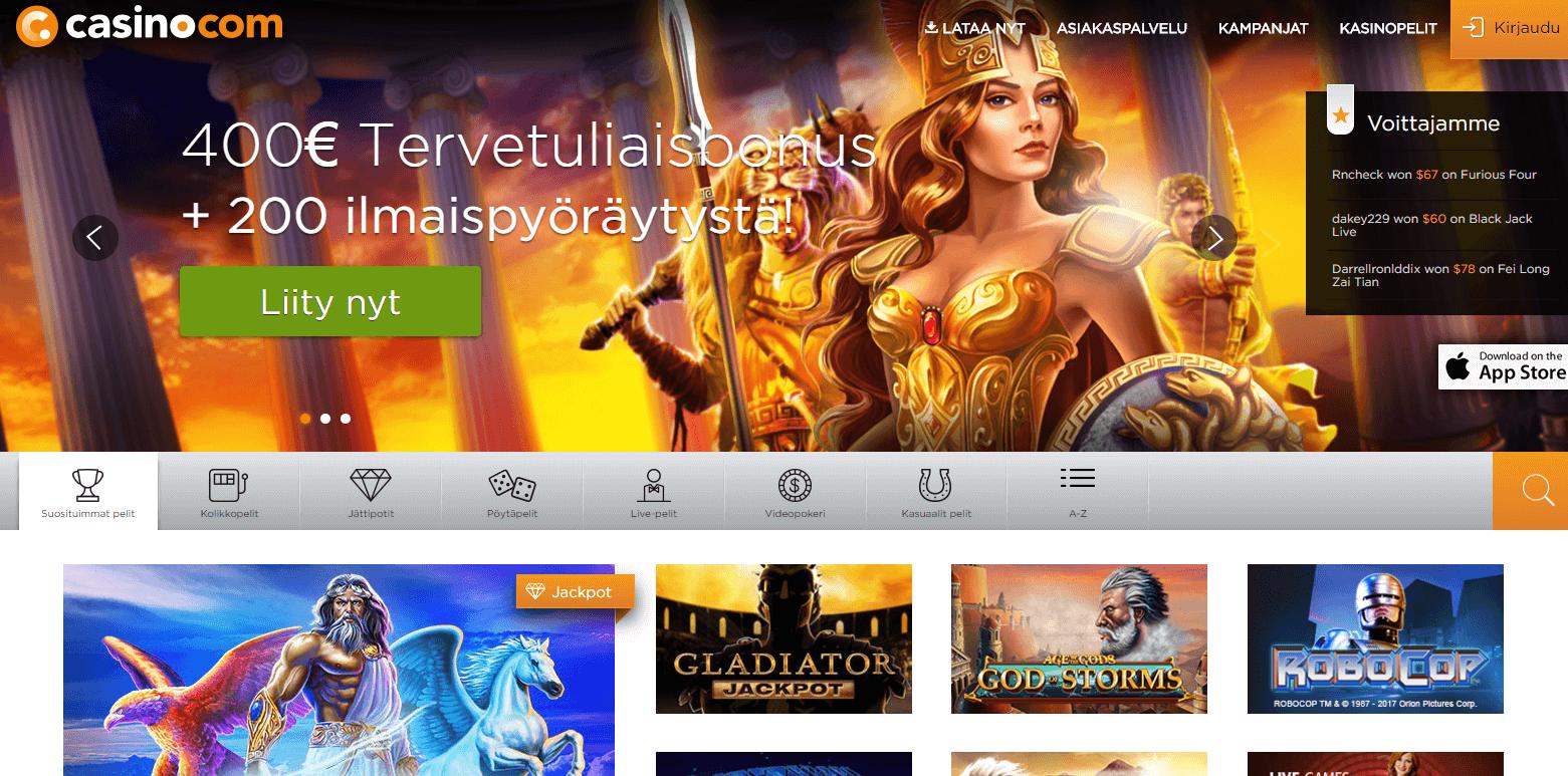Casino.com uusi tervetuliaistarjous