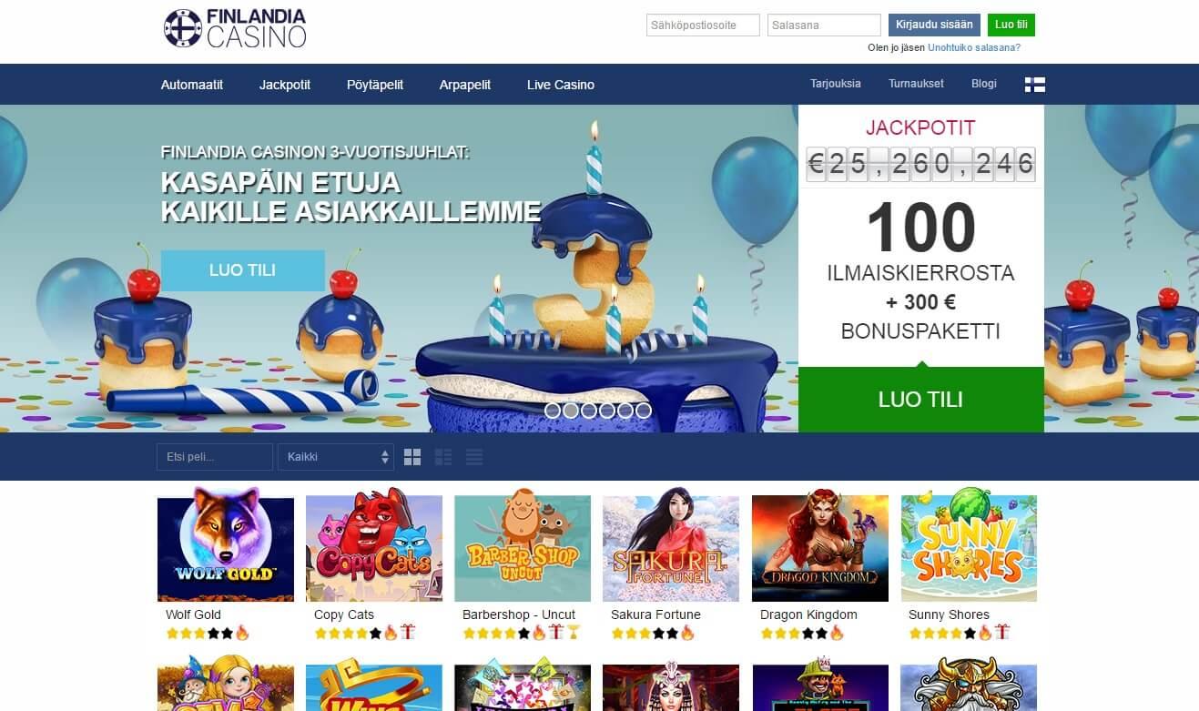 Finlandia Casino syntymäpäivä kampanjat