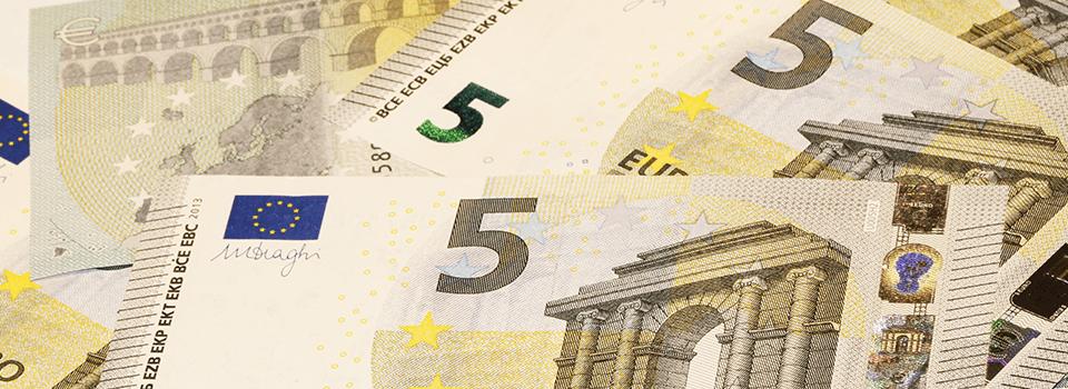 Minimitalletus 5 euroa