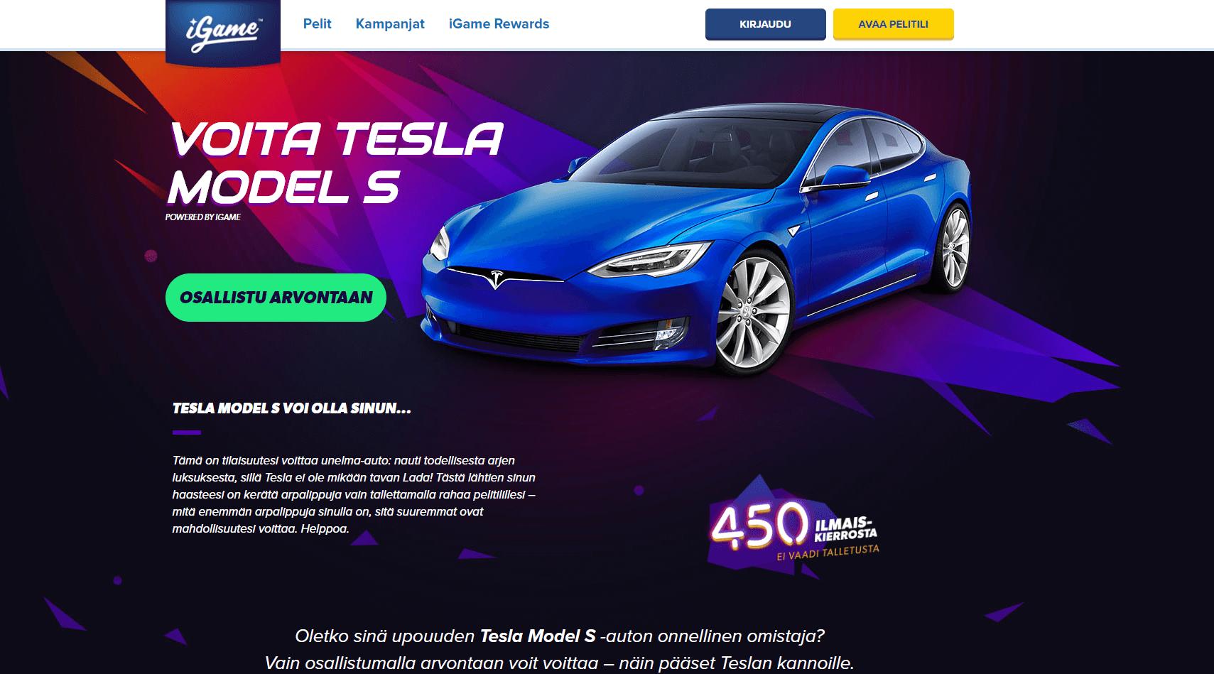 Voita Tesla auto