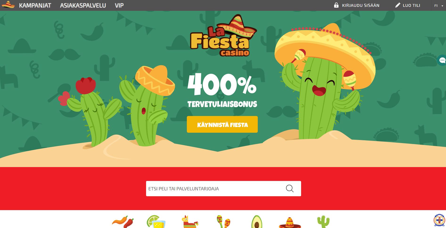La Fiesta Casinon kampanjat