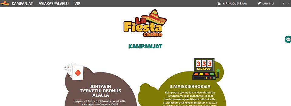La Fiesta Casino ilmaiskierrokset