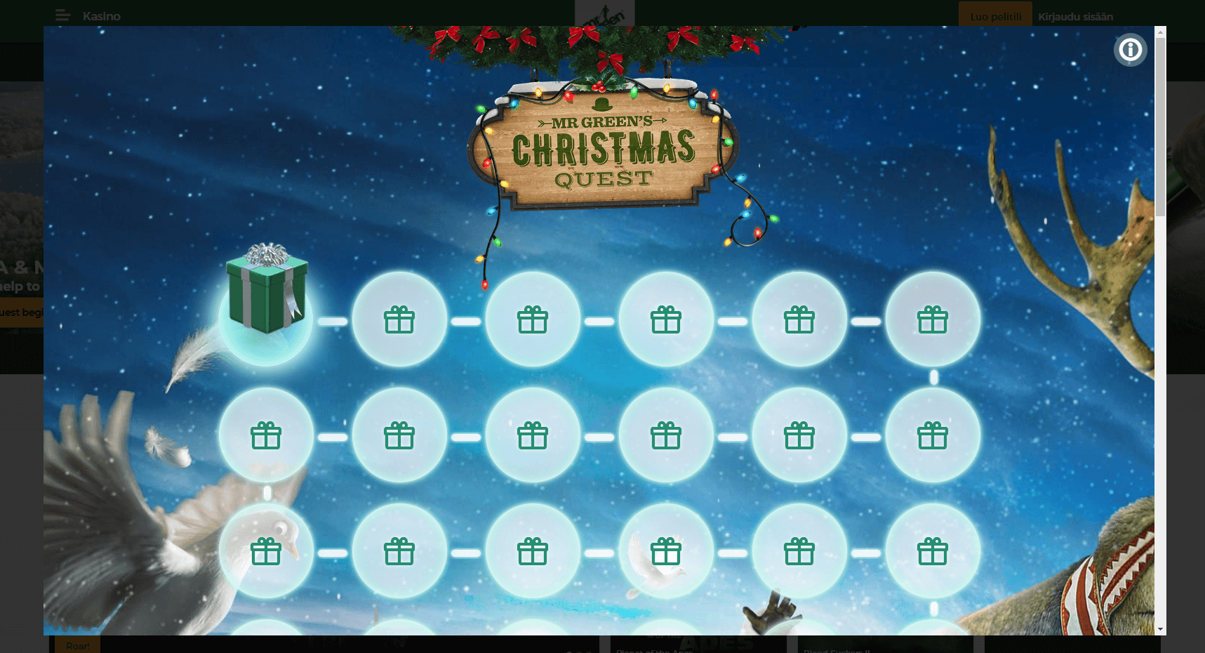 MrGreen joulukampanja