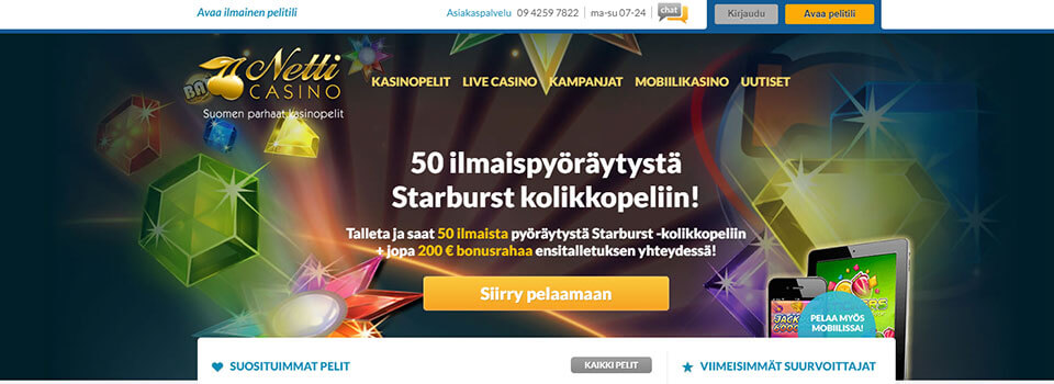 Netticasino.com arvostelu