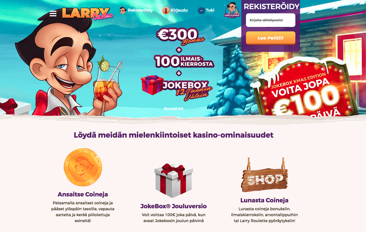 Larry Casinon joulukampanja