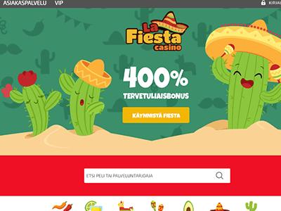 Uuden nettikasinon La Fiesta Casino kuvakaappaus