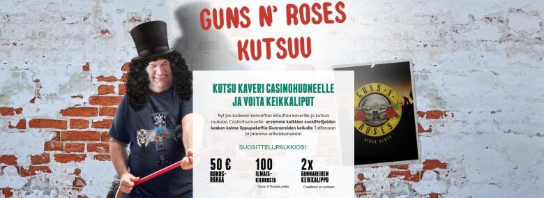 Casinohuone_Gunnareiden _keikkaliput_Tallinnaan