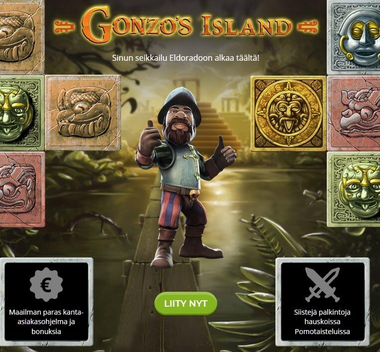 Gonzos_Island_miljoona_ilmaista_kierrosta
