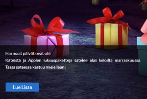 Suomiarvat_marraskuinen_käteissade_13_000_euroa