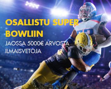 Bethard Super Bowl 5000 euroa