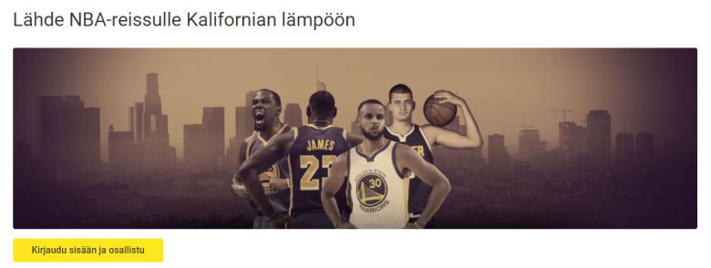 Unibet NBA-matka Kaliforniaan