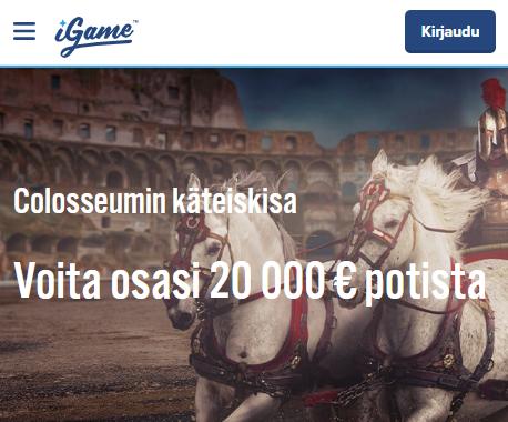 iGame Colosseumin 20 000 euron käteiskisa
