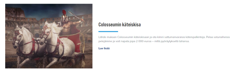 iGame Colosseumin 20 000 euron kisa
