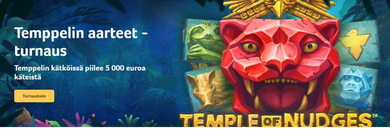 Kolikkopelit - Temppelin aarteet ja 5000 euroa