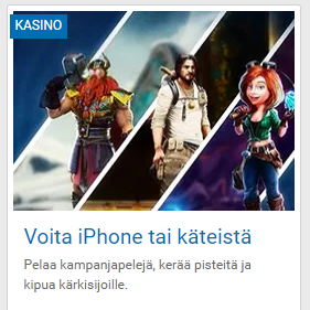NordicBet voita iPhone tai käteistä