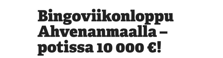Paf Bingoviikonloppu Ahvenanmaalla elokuussa
