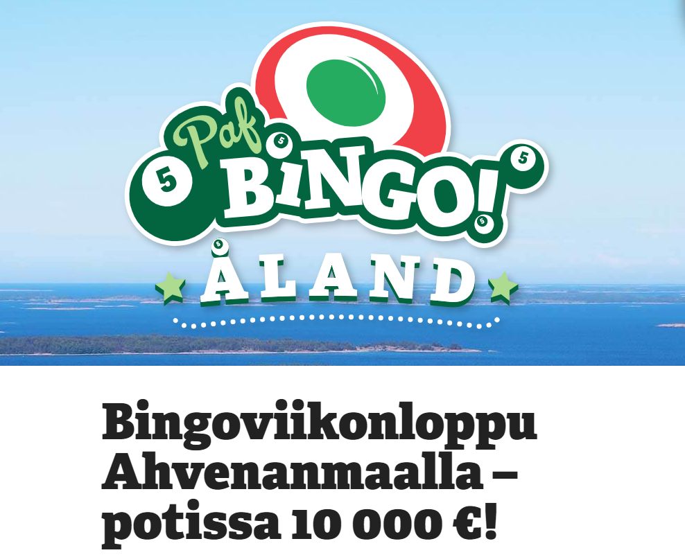 Paf Bingoviikonloppu Ahvenanmaalla