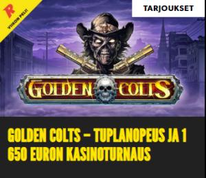 Rizk ja tuplanopeus pelissä Golden Colts