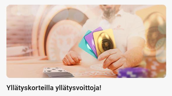 Leovegas -yllätyskortteja