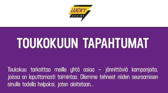 Lucky Casinon toukokuun edut