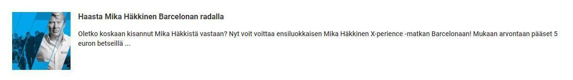 Unibet - Haasta Mika Häkkinen formulassa