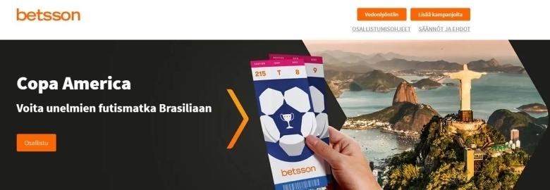 Betsson - Voita matka Brasiliaan