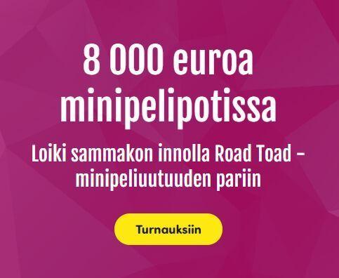 Casinohuone ja 8000 euron miniturnaukset