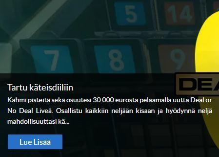 Suomiarvat ja pelin Deal or No Deal -kampanja