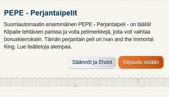 Suomiautomaatin PEPE -perjantai