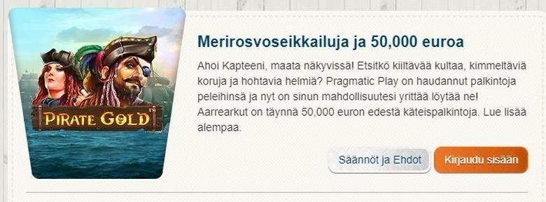 Suomiautomaatin merirosvoseikkailu