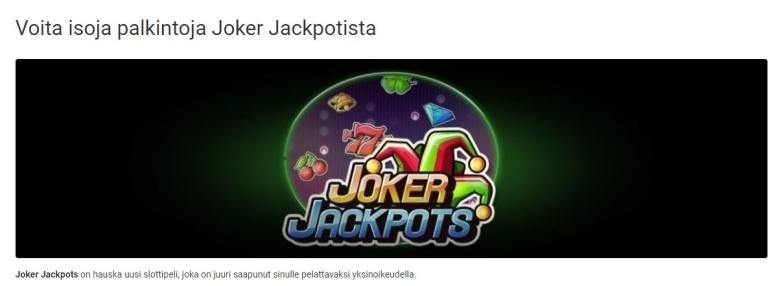 Unibet - Joker Jackpot 10 000 euroa
