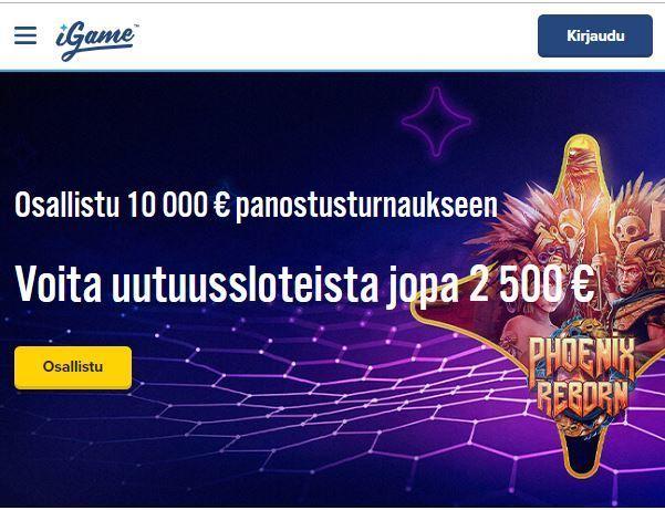 iGame ja 10 000 euron kisa