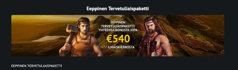 7Gods Casinon eeppinen tervetuliaispaketti