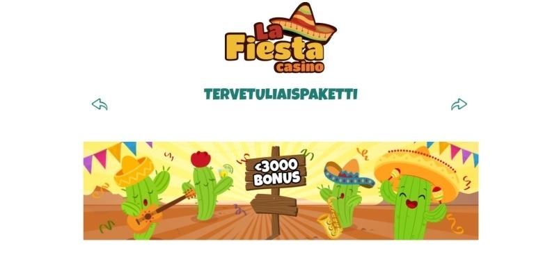 La Fiesta Casinon tervetulobonukset
