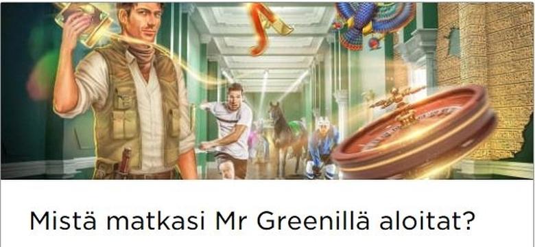 Mr Greenin tervetulotarjoukset