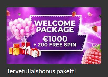 VegasBerryn tervetulopaketti
