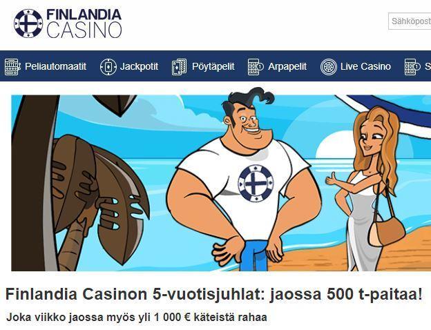 Finlandia Casino jakaa palkinnoksi t-paitoja
