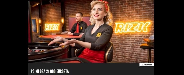 Rizk - 21 000 euron potti