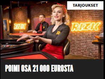 Rizk ja 21 000 euron potti