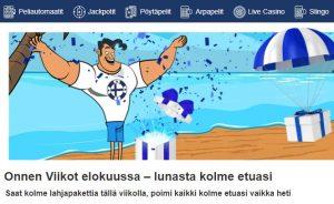 Finlandia kasinon elokuun edut