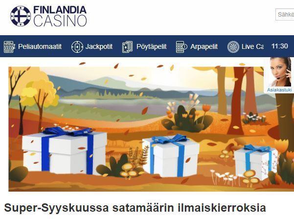 Finlandia Casino - 200 ilmaiskierrosta