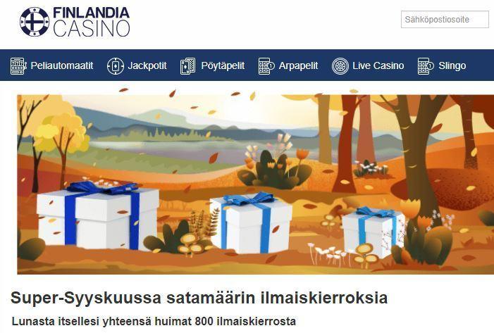 Finlandia Casino ja syyskuun edut