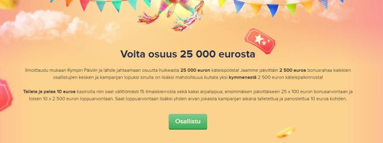 CasinoEuro - 25 000 euroa