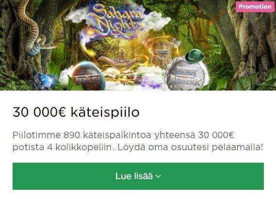 Mr Green - 30 000 euron käteispiilo