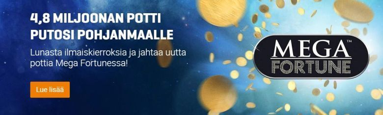 NordicBet - Mega Fortune -kampanja